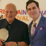 Matthew Grant Godbey recently attended the Marbella Internacional Film Festival in Spain representing the CineFocus Production film IT FOLLOWED ME HERE. Matthew wrote, directed and starred in the film and was proud to be nominated for Best Actor. He is seen here with fellow Best Actor nominee Steven Berkoff.