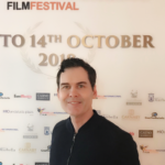 "Matthew Grant Godbey on the red carpet at the MARBELLA INTERNATIONAL FILM FESTIVAL in Marbella, Spain representing the CineFocus Production film "" IT FOLLOWED ME HERE"""